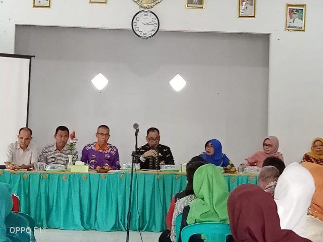 Rapat Evaluasi Persiapan Lomba Kesrak Tk.Propinsi dipekon Sumberejo Kecamatan Pagelaran