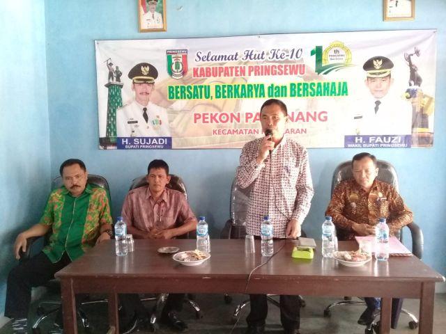 Penjaringan dan penyaringan aparatur Pekon di Pekon Pamenang Kecamatan Pagelaran
