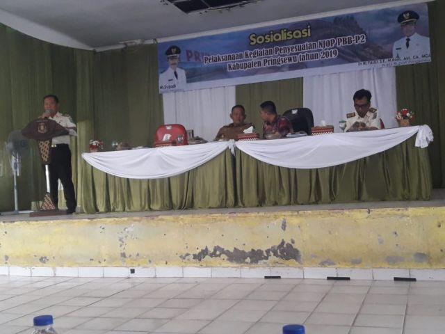 Sosialisasi NJOP PBB-P2 Kab.Pringsewu Tahun 2019 dibuka oleh Wakil Bupati Pringsewu