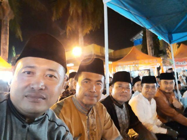 Menghadiri  Acara Istighosah Kubro di Pendopo Kab.Pringsewu , Kamis 16 Okt.2019.