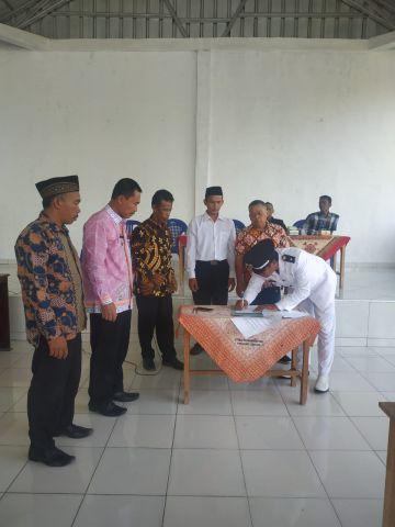 Pelantikan Kepala Dusun Pekon Sidodadi Kec.Pagelaran
