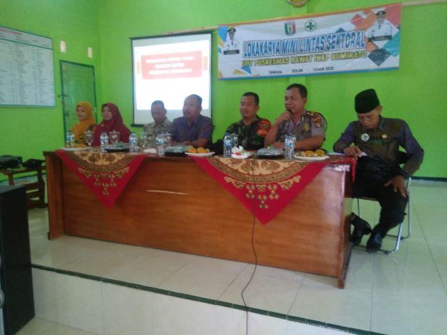 Kasi Pmd Kecamatan Pagelaran wakili Camat pagelaran menghadiri acara lokakarya mini lintas Sektoral