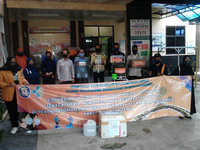 Bantuan Alat untuk cuci tangan dari Politeknik Kesehatan Balam