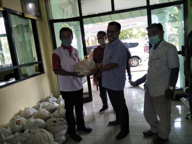 Sembako gratis dari Dinas Ketahanan Pangan Provinsi Lampung untuk Masyarakat  tidak mampu yang terdampak covid-19