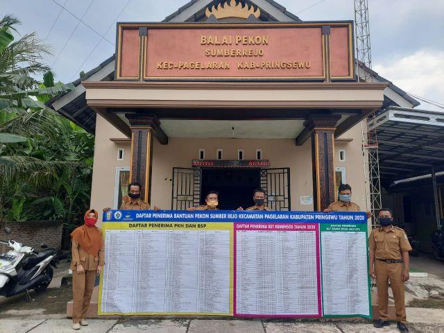 Baner Transparasi Data penerima bantuan di pekon kecamatan pagelaran