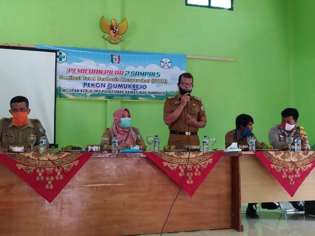 Pemicuan Pilar 2 sampai 5 Sanitasi Total Berbasis Masyarakat  STBM Pekon Gumukrejo