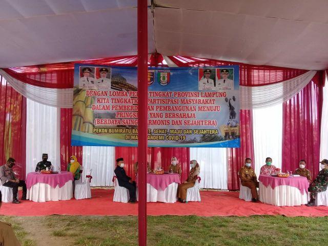Kunjungan Tim penilai Lomba Pekon tingkat Provinsi Lampung di Bumiratu Kec. Pagelaran